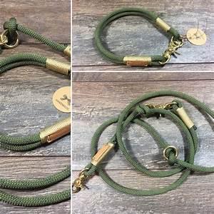 Hunde Sachen Kaufen : hund halsb nder hundeleine halsung im set tauleine oliv ein designerst ck von weserland ~ Watch28wear.com Haus und Dekorationen