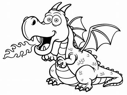 Dragon Coloring Kleurplaat Draak Colorear Colorare Disegni
