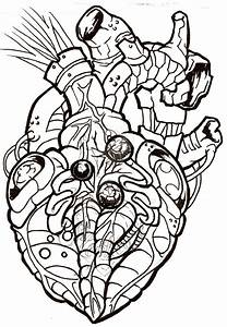Mechanical Heart Drawing | Free download on ClipArtMag