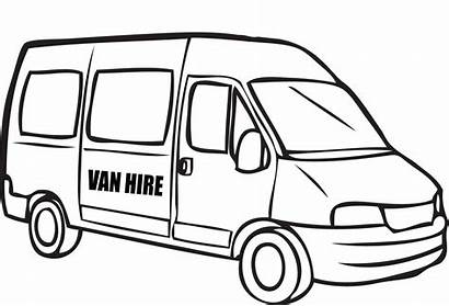 Van Coloring Pages Drawing Police Colouring Cars