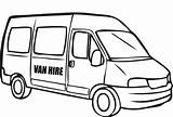 Van Coloring Police Pages Drawing Minivan Vw Colouring Clipart Vans Clip Cars Printable Sketch Delivery T5 Simple sketch template