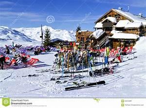 Apres Ski In A Mountain Chalet Bar, Restaurant Against ...