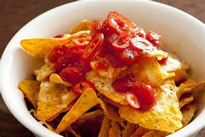 Hot Spicy Salsa On Tortilla Chips Free Stock Image