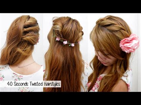 seconds twisted hairstyles timed  quick cute