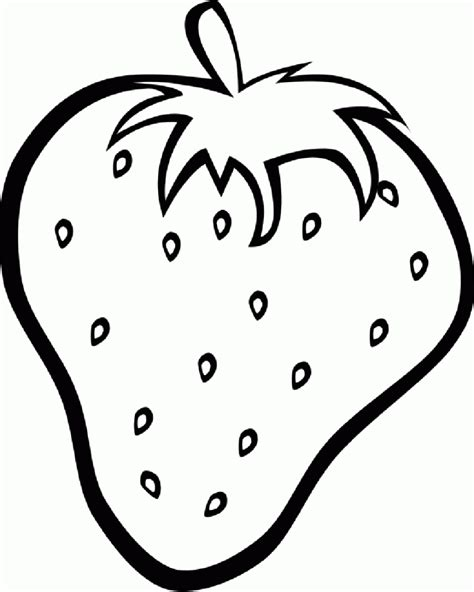 Coloring Strawberry by Free Printable Fruit Coloring Pages For