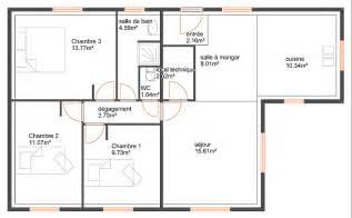 plan maison 90m2 3 chambres plan maison en l 90m2