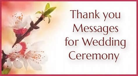 messages  wedding ceremony