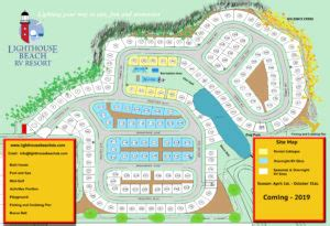 Resort Site Map » Lighthouse Beach Rv Resort