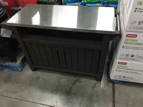 Sams Club Pool Deck Box by New Stainless Prep Table At Sams Club Big Green Egg
