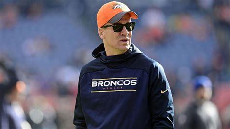 Peyton Manning Back At Practice, Won't Play For Broncos Vs ...