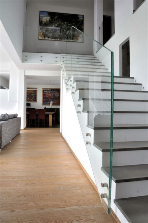 Glass Banisters For Stairs by 17 Best Ideas About Glass Stair Railing On