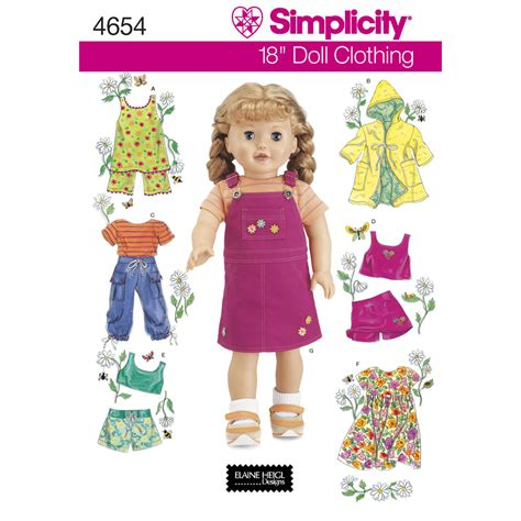 pattern  doll clothes simplicity