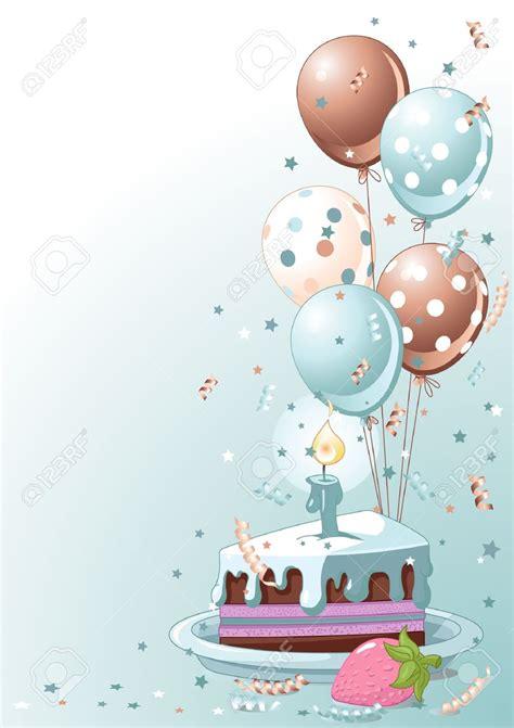 blue candles birthday cake balloons clip 86