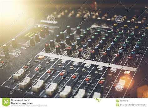 Professional Sound Mixer In Studio For Music And Sound