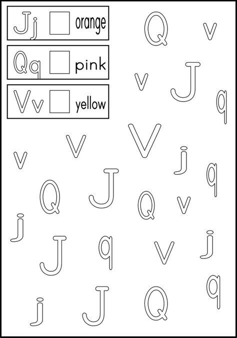 alphabet worksheets kindergarten abc letter recognition