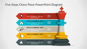 Five Step Powerpoint Diagram Chess Piece