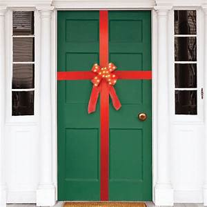 Lighted, Holiday, Door, Ribbon, Decoration, With, Timer, -, Decorative, Outdoor, Display