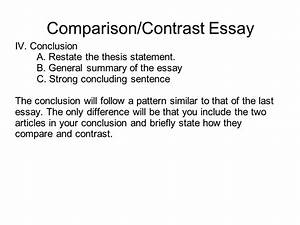 good closing sentences for compare and contrast essays