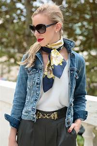 { Welcome to the Jungle Denim jacket Silk scarf u0026 Tapered pants } - Meaganu0026#39;s Moda