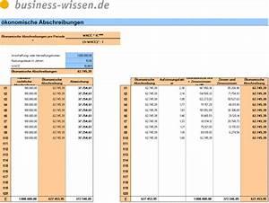 Personalbedarf Berechnen : konomische abschreibungen a berechnen excel tabelle business ~ Themetempest.com Abrechnung
