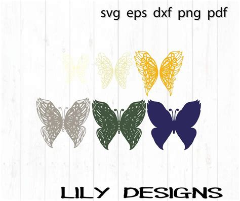 Your purchase will include 1 zip folder with this design in svg, dxf, eps, pdf and png file formats. 3D Butterfly Mandala SVG Laser Cut File   Etsy