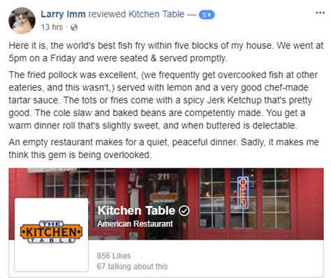 kitchen table prescott wi fish fry review the kitchen table the kitchen table