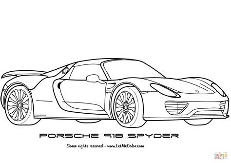 Kleurplaat Real Weel by Porsche 918 Spyder Kleurplaat Gratis Kleurplaten Printen