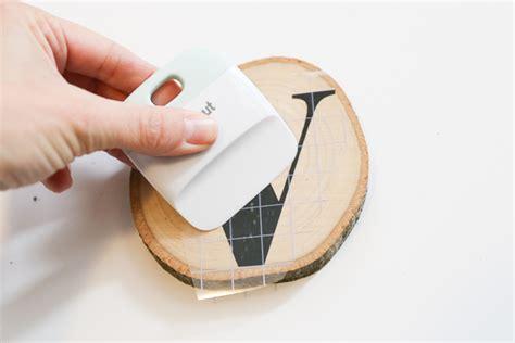 diy monogram wood slice coasters sew  ado