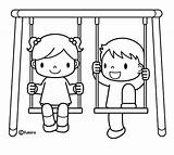 Swing Coloring Pages sketch template