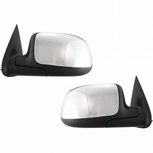 New Chrome Manual Mirror Set For 99