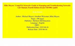 Mike Meyers U2019 Comptia Network  Guide To Managing And