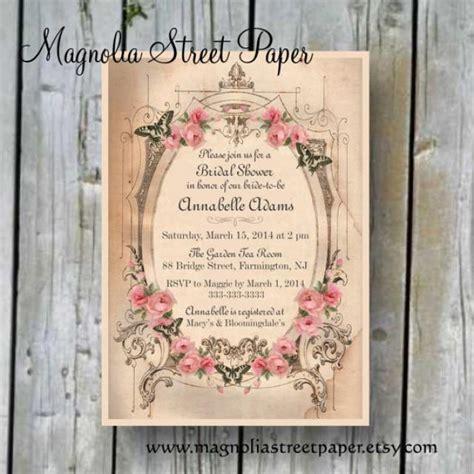 diy vintage bridal shower invitations printable bridal shower invitation custom printable