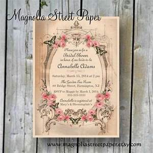 printable bridal shower invitation custom printable With free printable vintage wedding shower invitations