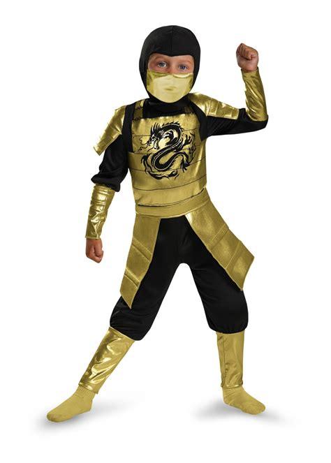 boys golden samurai costume ninja costumes