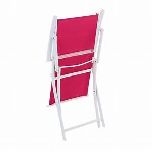 Fauteuil De Jardin Pliant : fauteuil de jardin pliant modula fuchsia blanc chaise ~ Dailycaller-alerts.com Idées de Décoration