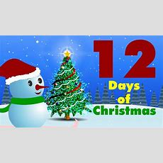 12 Days Of Christmas  Christmas Carol Youtube
