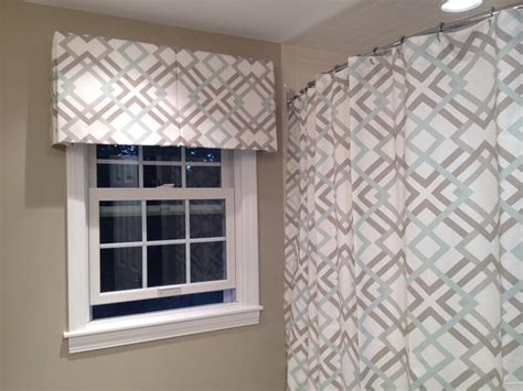 Box-pleated Valance With A Matching Shower Curtain What Color Granite With White Kitchen Cabinets Flooring Ideas Cork Floors In Floor Made Out Of Pennies Copper Backsplash Living Convection Countertop Oven Bold Paint Colors Different Types Countertops For Kitchens