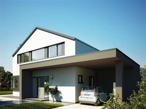 satteldach haus modern fassadengestaltung einfamilienhaus modern satteldach haus deko ideen