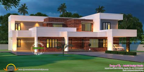 2 bed 2 bath house plans contemporary house with laterite wall kerala home