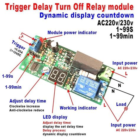 Digital Led Display Delay Timing Timer Switch