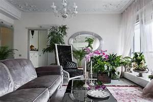Plante De Salon : bel appartement luxueux saint p tersbourg au design l gant intemporel design feria ~ Teatrodelosmanantiales.com Idées de Décoration