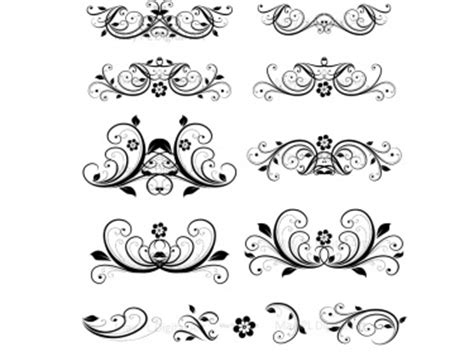 flourish clip art vintage flower clipart designs  diy