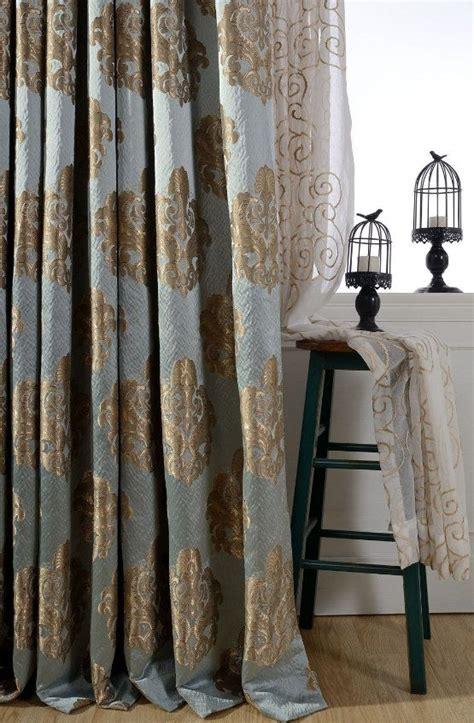 ideas  damask curtains  pinterest cream