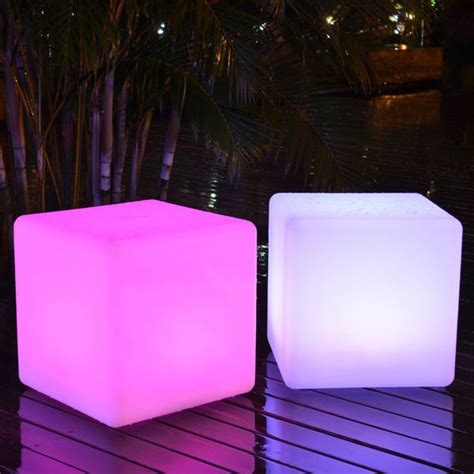 bar stool industrial color changing led outdoor light cube sp 3535