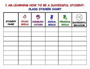 Successful Behavior Class Sticker Chart By Student Success