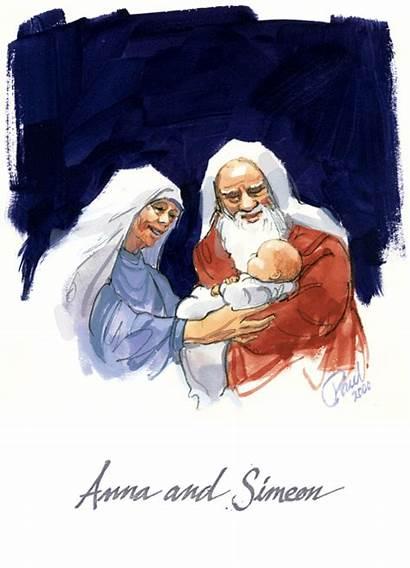 Simeon Anna Luke Catholic Bible Lord Scripture