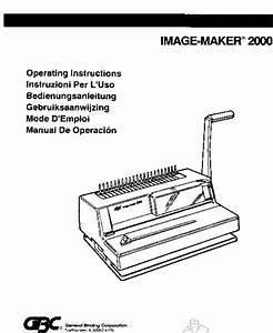 Mybinding Gbc Image Maker 2000 Users Manual User