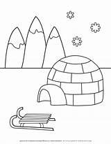 Coloring Planerium Igloo Slide sketch template