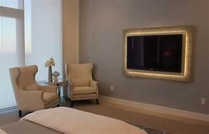 Indirekte Beleuchtung Fernseher : flachbildfernseher an die wand h ngen und rahmen lassen ~ Markanthonyermac.com Haus und Dekorationen