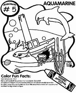 No.5 Aquamarine Coloring Page | crayola.com